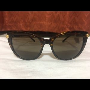 Versace Women's CatEye Brown Sunglasses VE4364Q 55